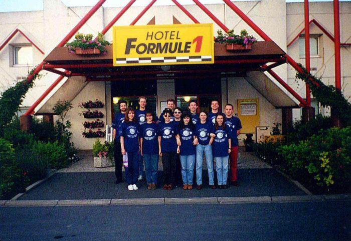 Prva generacija študentov MMP na strokovni ekskurziji leta 1995